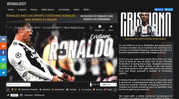 Ronaldo7 sport site