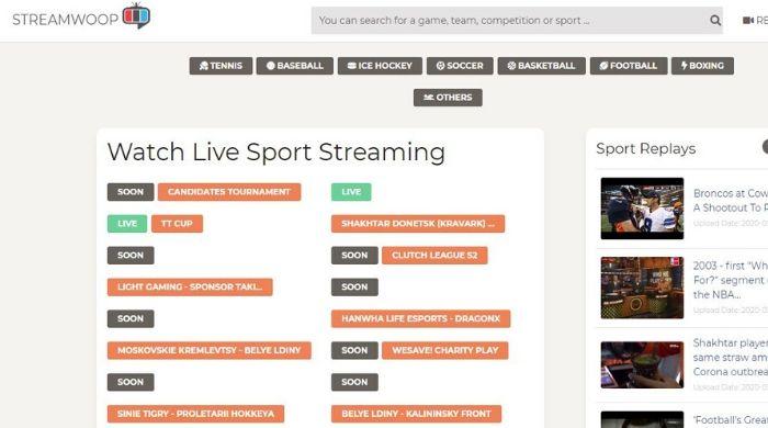 StreamWoop sport