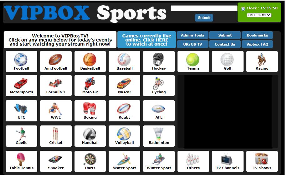 VipBoxTV Free Sport Site