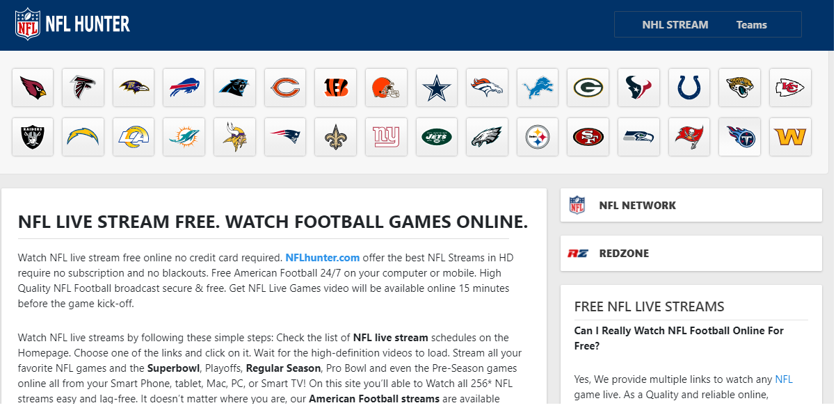 nfl streaming live